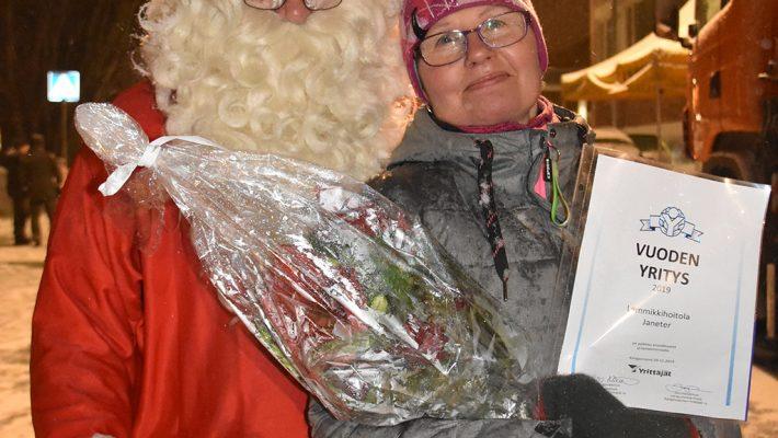Janet Tervashonka Kangasniemen Vuoden Yrittäjä 2019!